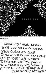 Thank You Card - Closed Short Sale