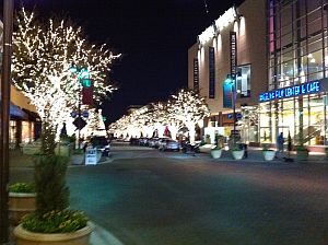 Holiday Lights in The Shops at Legacy Plano Texas