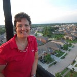 Gina Branch Riding in the RE/MAX Balloon