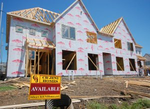 Townhomes Under Construction at The Villas of Lake Vista Coppell TX