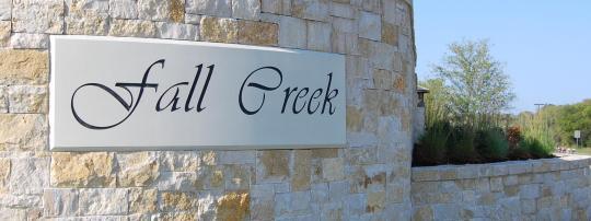 Fall Creek in Allen Texas